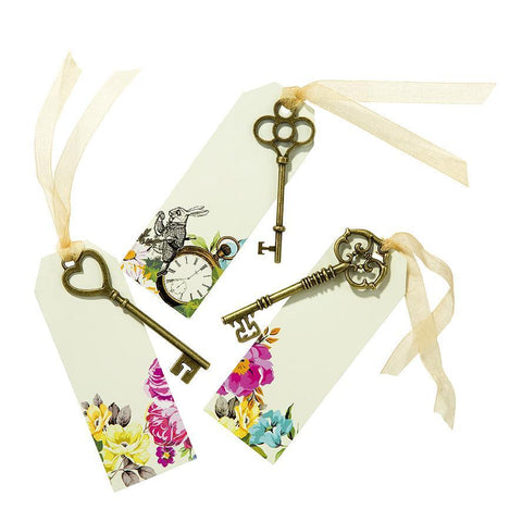 Truly Alice Curious Keys & Tags-Jubilee Favors