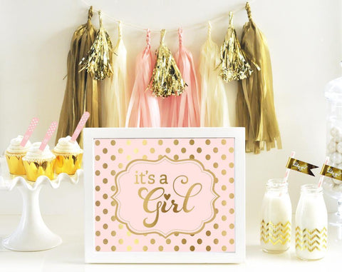 Typography Foil Print Baby Shower Sign-Jubilee Favors