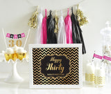 Typography Foil Print Birthday Sign-Jubilee Favors