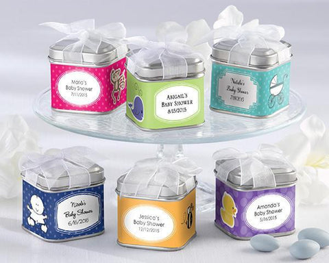"""Unexpected Treasures!"" Favor Tin - Baby (Set of 12)-Jubilee Favors"