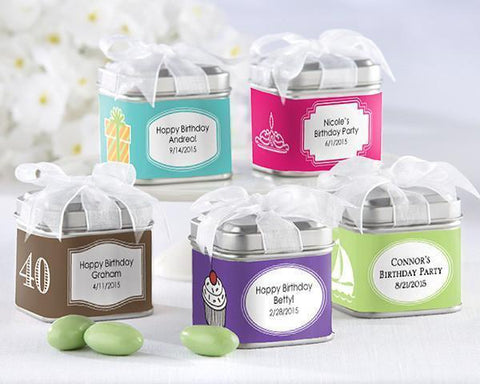 """Unexpected Treasures!"" Favor Tin - Birthday (Set of 12)-Jubilee Favors"