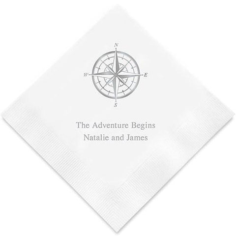Vintage Travel Compass Printed Paper Napkins-Jubilee Favors