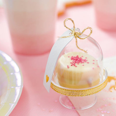 We Heart Pink Cake Domes for $ 16.99 at Jubilee Favors