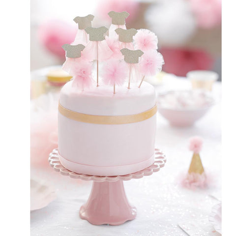We Heart Pink Cake Toppers-Jubilee Favors