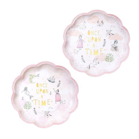 We Heart Pink Fairytale Plates-Jubilee Favors