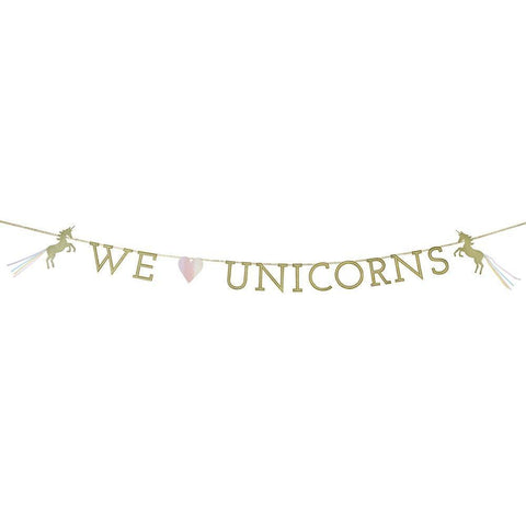 We ♥ Unicorn Magical Garland-Jubilee Favors