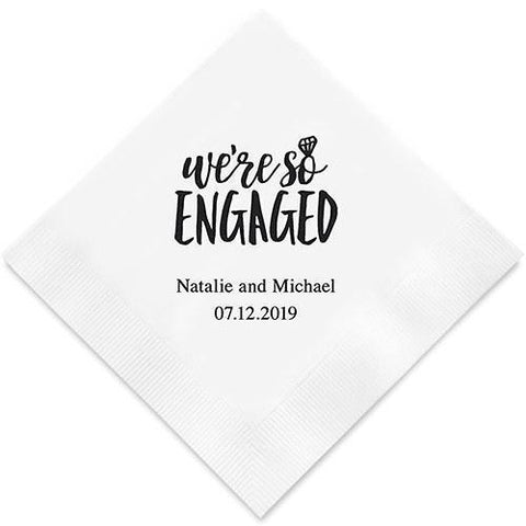 We're So Engaged Printed Paper Napkins-Jubilee Favors