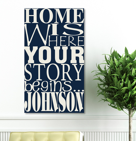 Where Our Story Begins Canvas Print-Jubilee Favors