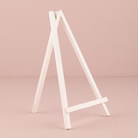 White Wooden Easels - Large (set of 3)-Jubilee Favors