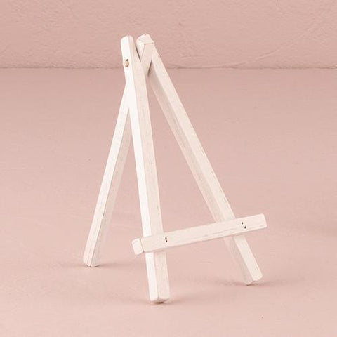 White Wooden Easels - Medium (set of 8)-Jubilee Favors