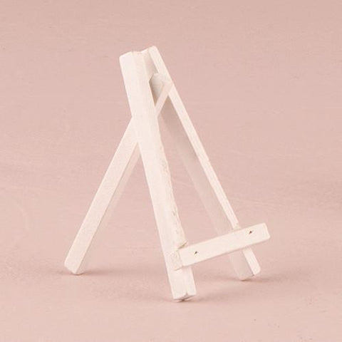 White Wooden Easels - Small (set of 12)-Jubilee Favors