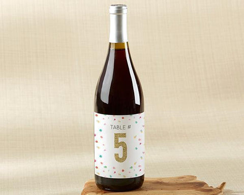 Wine Label Table Numbers - Party Time (1-20)-Jubilee Favors