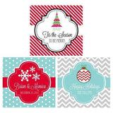 "Winter 2"" Square Personalized Favor Labels & Tags-Jubilee Favors"