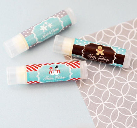Winter Personalized Lip Balm Tubes-Jubilee Favors