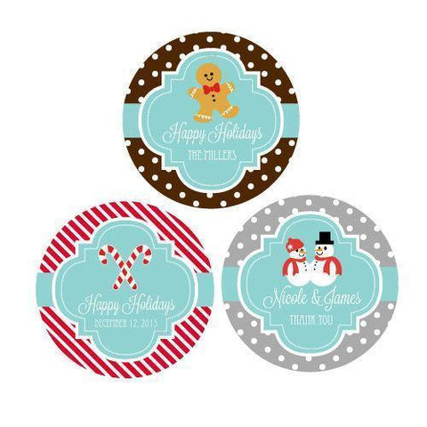 Winter Personalized Round Favor Labels-Jubilee Favors