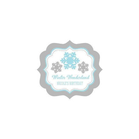 Winter Wonderland Party Personalized Frame Labels-Jubilee Favors
