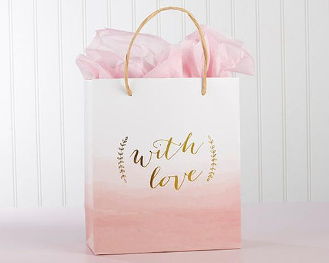 With Love Pink Watercolor Gift Bag (Set of 12) for $ 52.49 at Jubilee Favors