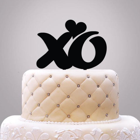 XO with Heart Cake Topper-Jubilee Favors