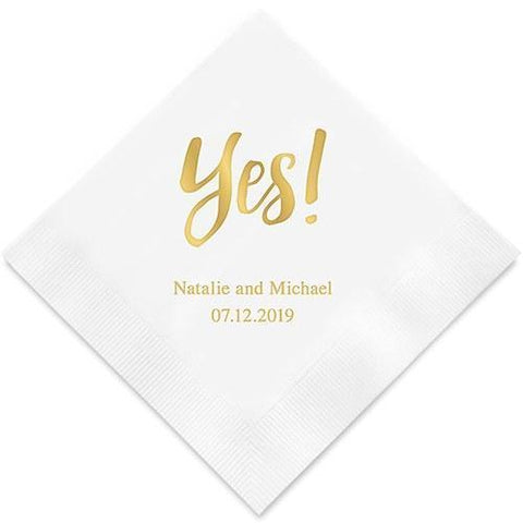 Yes! Printed Paper Napkins-Jubilee Favors