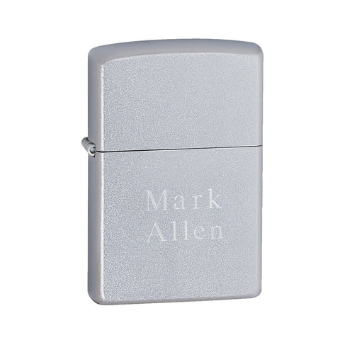Zippo Satin Chrome Lighter-Jubilee Favors