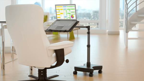 LEVO Rolling Laptop Workstation Stand, laptop desk, laptop table, portable