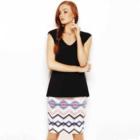 PENCIL SKIRT - MIDI TRIBAL