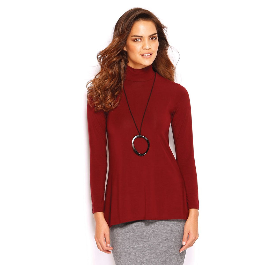 FLARED TOP TURTLE NECK