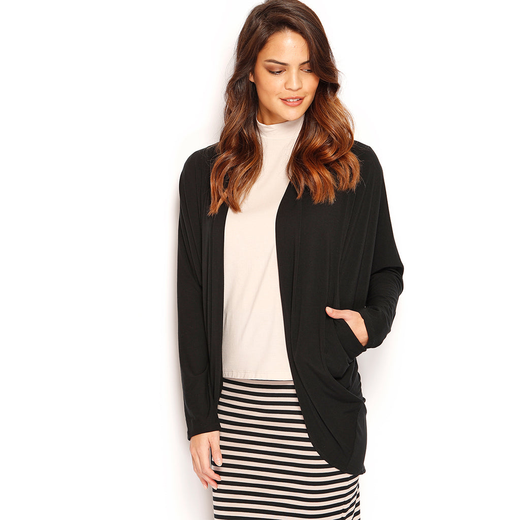 hm jacket black m clothing drapes h draped lyst product in normal gallery