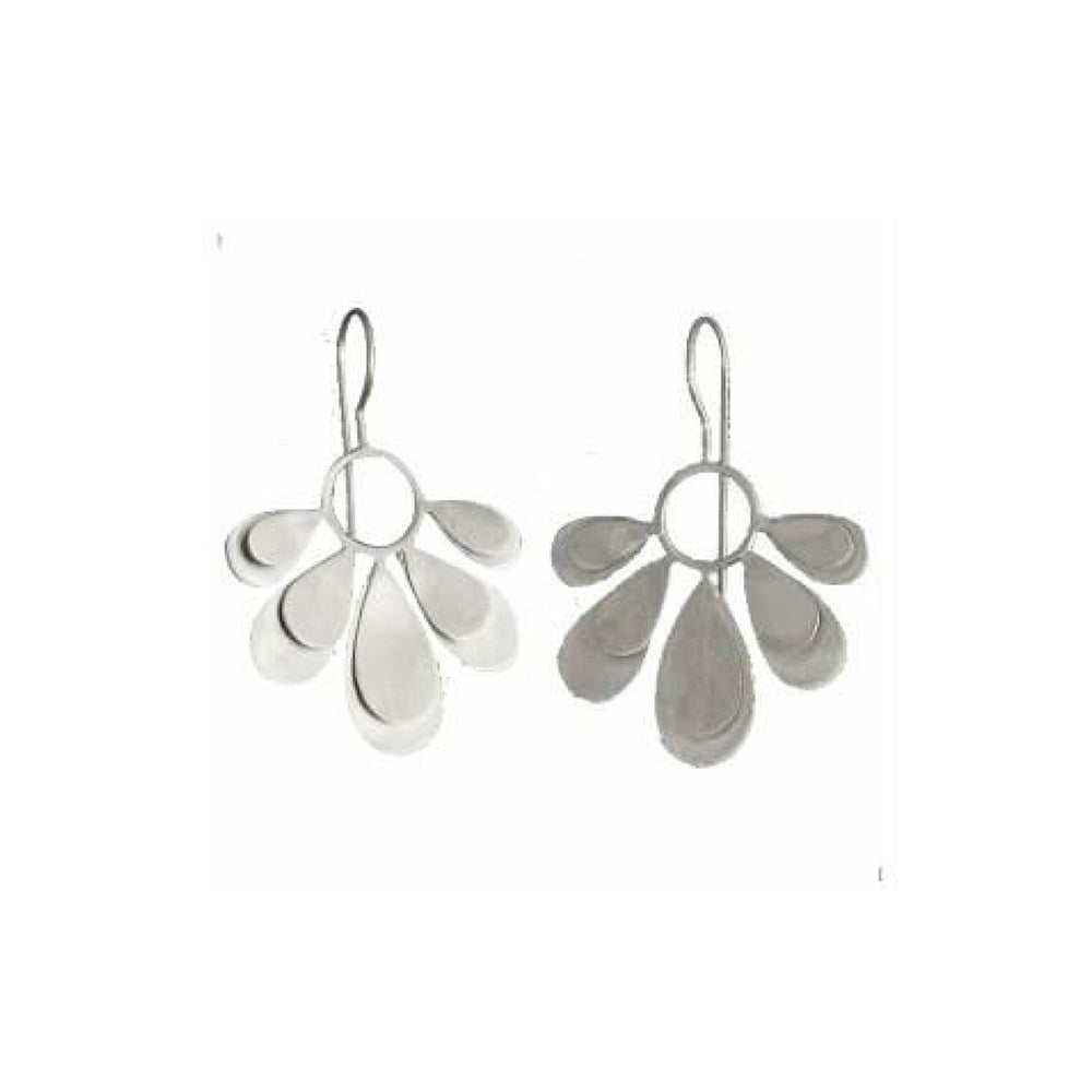 Sterling Silver daisy drop earrings