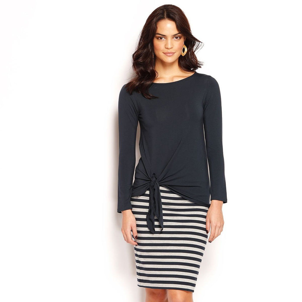 MIDI SKIRT - STRIPE