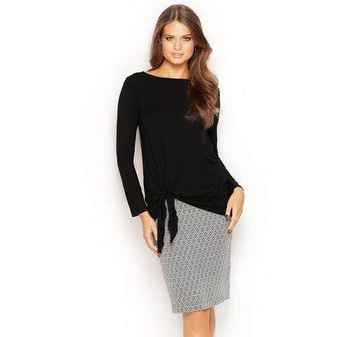 PENCIL SKIRT - MIDI - JACQUARD