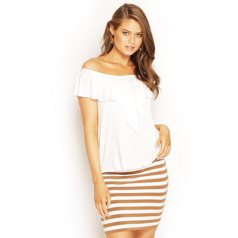 SHORT STRIPE SKIRT