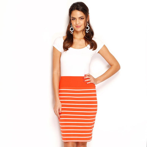 STRIPE SKIRT - MIDI