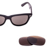 Brown replacement lenses for Ray-Ban Original Wayfarer