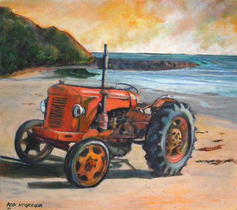 Tractor - David Brown on Beach