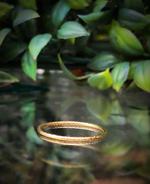 Sparkle Skinny Gold Stacker Ring