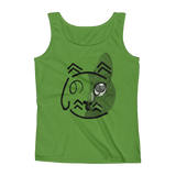 Cat design created with Japanese Hiragana Green color
