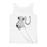 Dog on a Tank top with hiragana pets