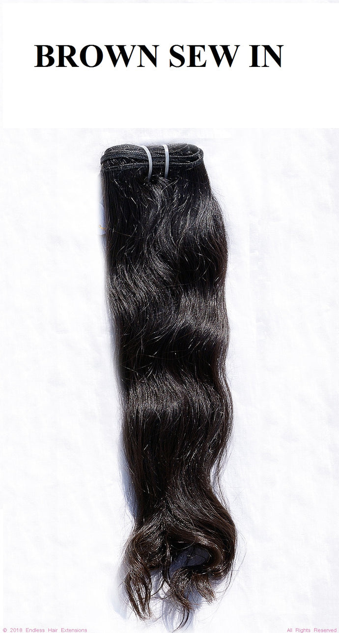 Endless Hair Extensions 100% Remy Raw Virgin Brown Sew In Human Hair Extensions