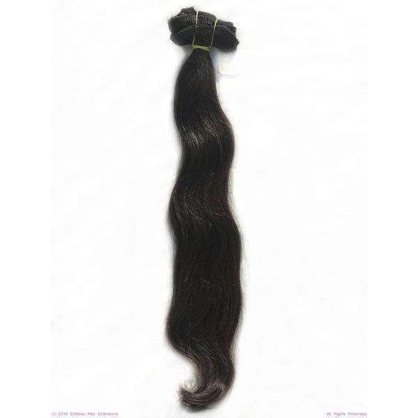 Remy Indian Hair Extensions (Brown Sew In Smooth Straight Wave)