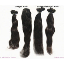 Endless Hair Extensions' Clip In Brown #2 Smooth Straight with a Slight Wave Texture