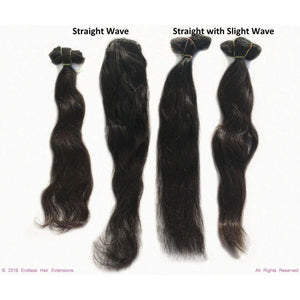 Remy Indian Hair Extensions (Brown Smooth Straight Slight Wave) - Endless Hair Extensions