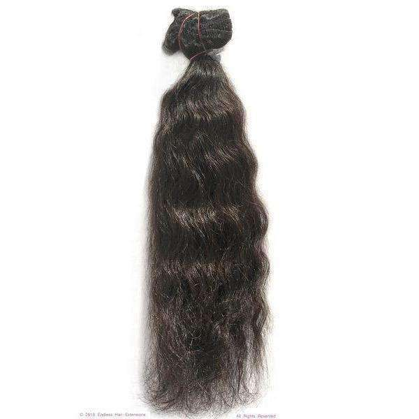 Remy Indian Hair Extensions (Black Sew In Curly Minimal Frizzy)