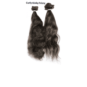 Remy Indian Hair Extensions (Brown Sew In Curly Kinky Frizzy) - Endless Hair Extensions