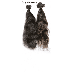 "20"" and 22""  Remy Indian Black Clip In Curly Kinky Frizzy Hair Extensions"