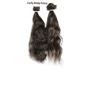Remy Indian Hair Extensions (Black Sew In Curly Kinky Frizzy)