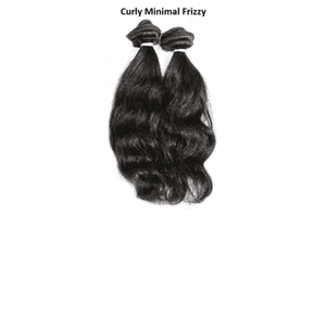 Remy Indian Clip In Hair Extensions (Black Curly Minimal Frizzy)