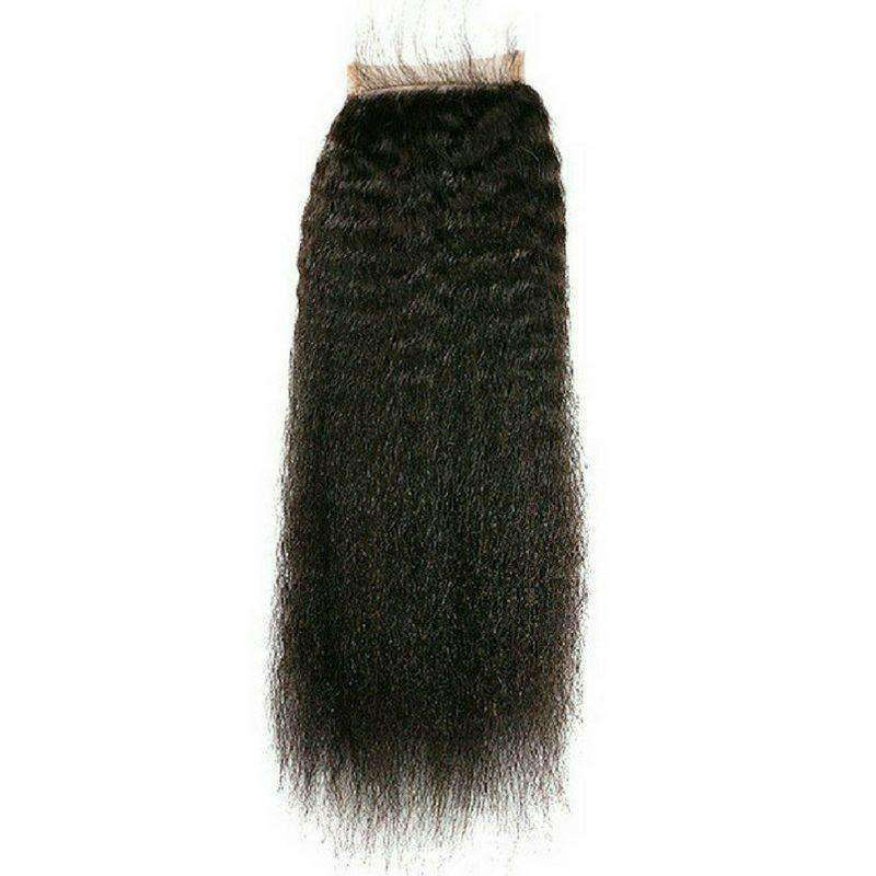 Brazilian Kinky Straight Closure - Hair Extensions