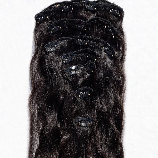 Remy Indian Clip in Hair Extensions (Brown Curly Minimal Frizzy) - Endless Hair Extensions