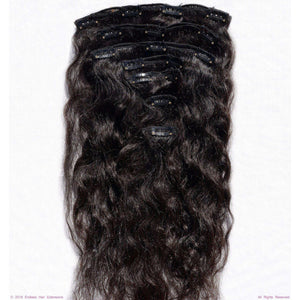 Endless Hair Extensions' Clip In Natural Black Curly Kinky Frizzy Texture